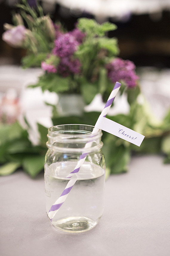 Purple cocktail stirrers
