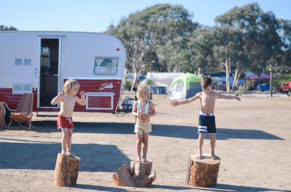 camping at The Holidays in San Clemente