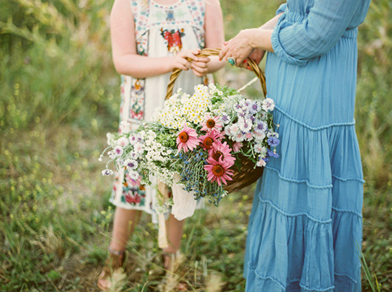 Mother daughter wildflower photos