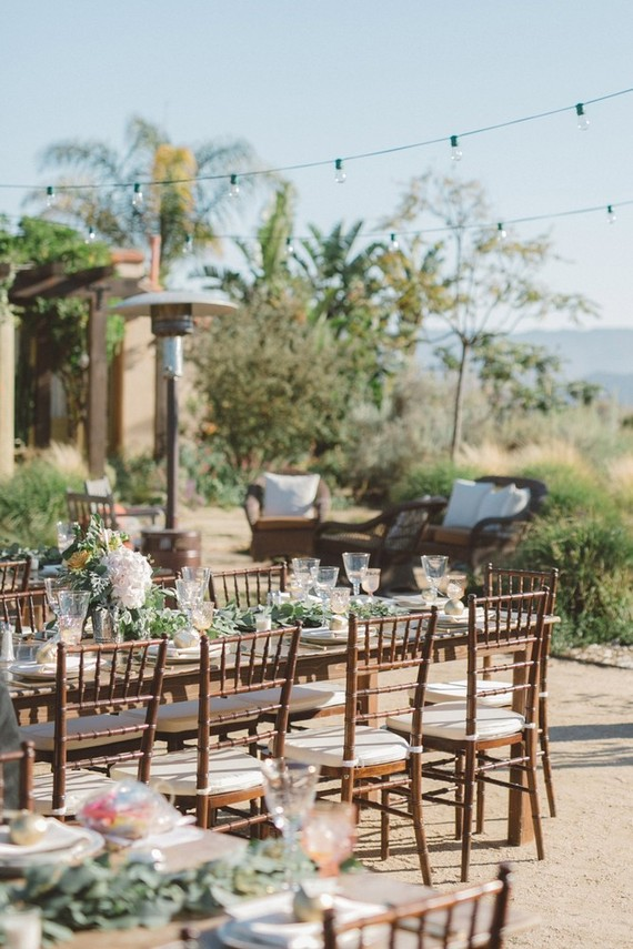 Ojai ranch wedding reception