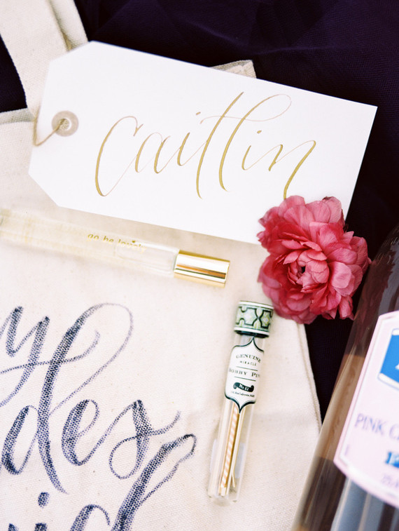 Hand-lettered place cards