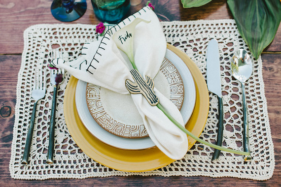 Spanish-styled place setting