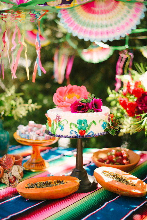 Dinner table with mexican food - Mexican Party Ideas Wedding Amp Party Ideas 100 Layer Cake