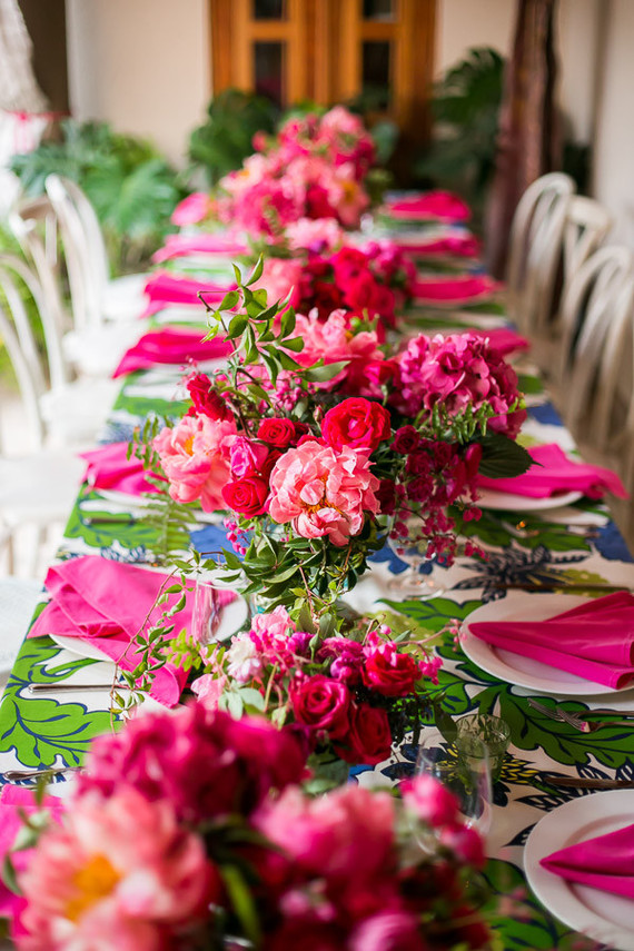 Hot pink floral arrangements wedding party ideas 100 layer cake previous hot pink floral arrangements mightylinksfo
