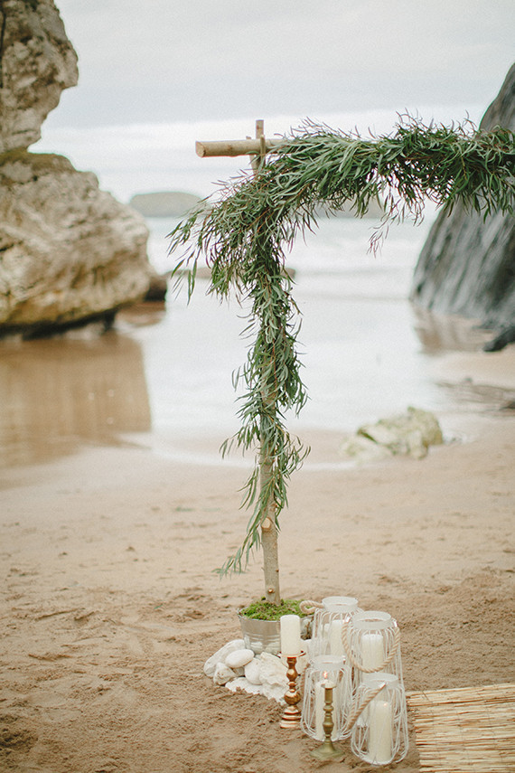 Bohemian beach wedding arch