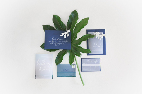 Blue invitation suite