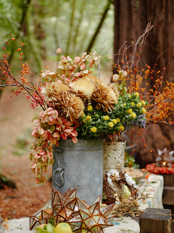 Rustic fall party in the redwoods wedding party ideas 100 layer cake