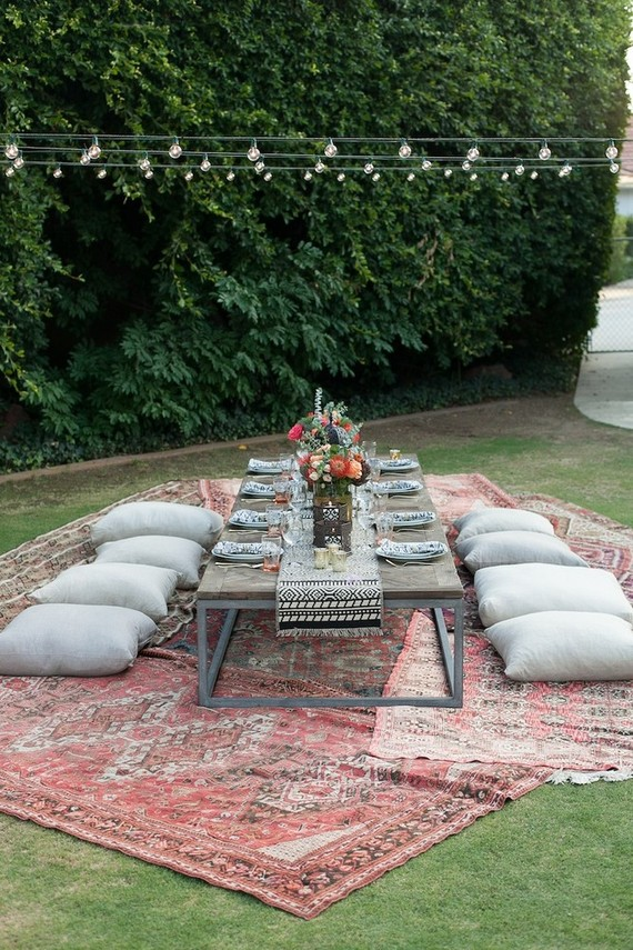 Eclectic Outdoor Dinner Party Tablescape Wedding Amp Party