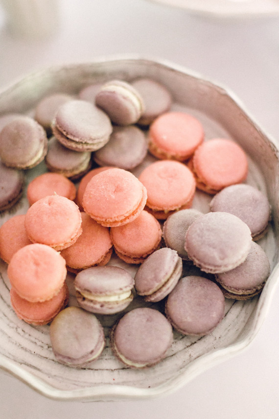 pink and purple macarons