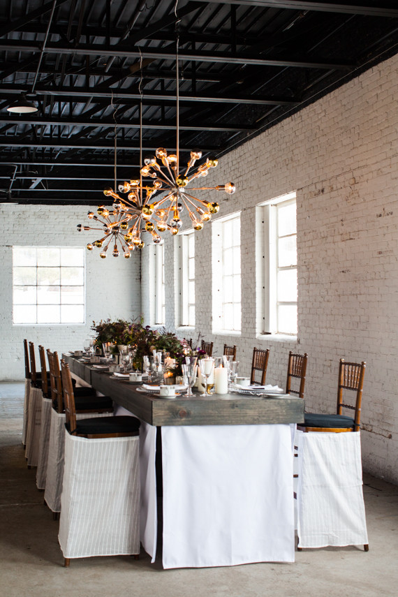 Industrial modern winter wedding inspiration