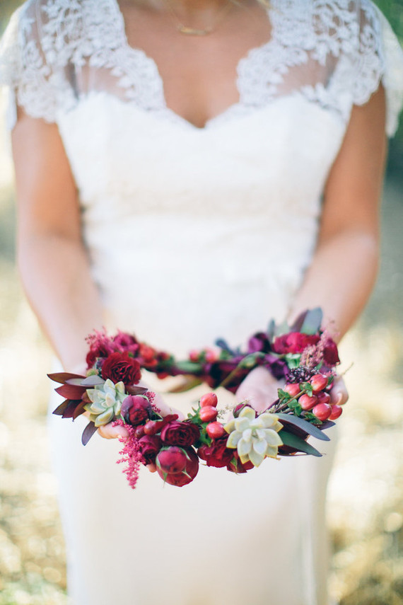 Bridal flower crown