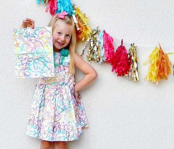 Diy scribble dress tutorial wedding party ideas 100 for Diy party dress