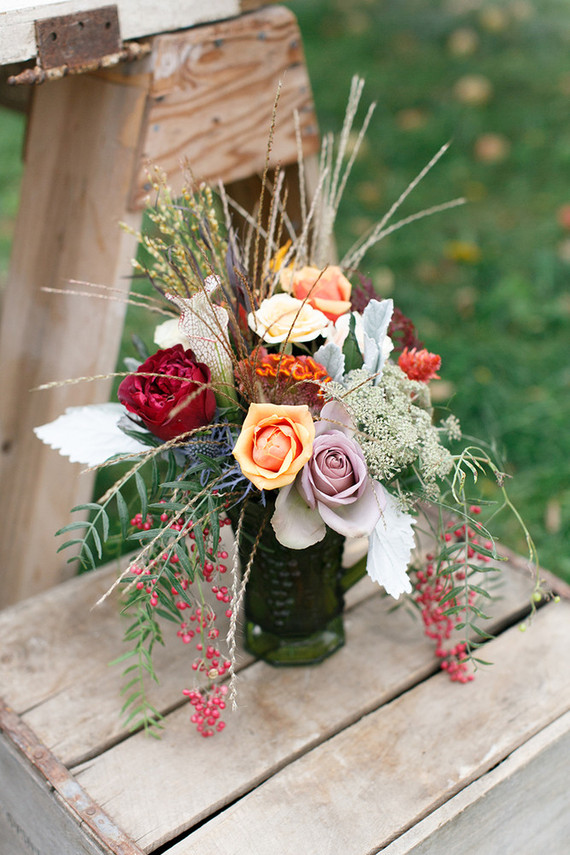 Fall wedding florals