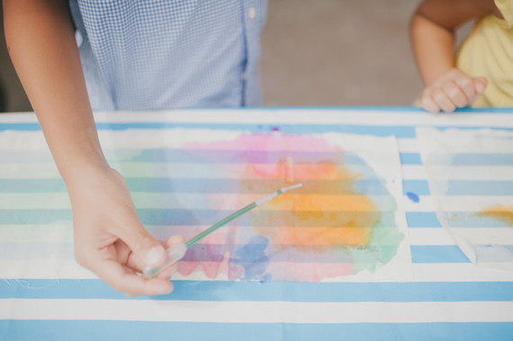 DIY watercolor project for kids