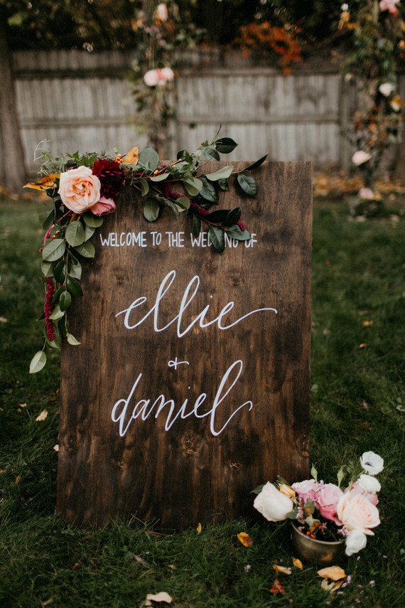Wooden Wedding Welcome Sign amp Party Ideas 100