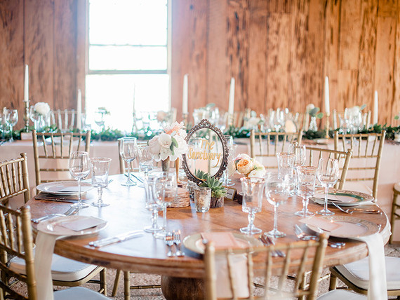 Romantic wedding tablescape