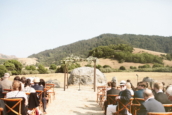 Romantic ranch wedding ceremony