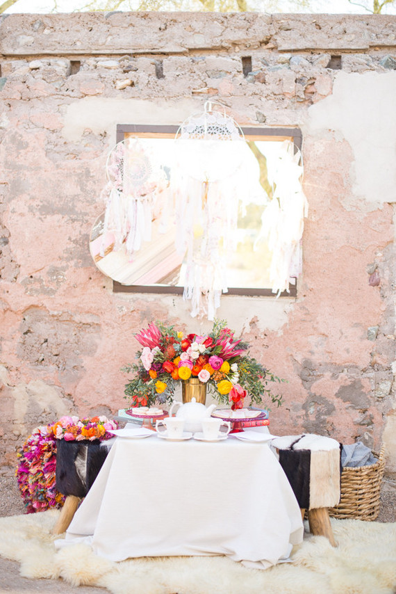 bright rustic party ideas