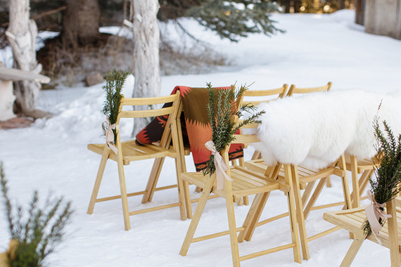 Winter Backyard Wedding Ideas : Outdoor winter ceremony  Wedding & Party Ideas  100 Layer Cake