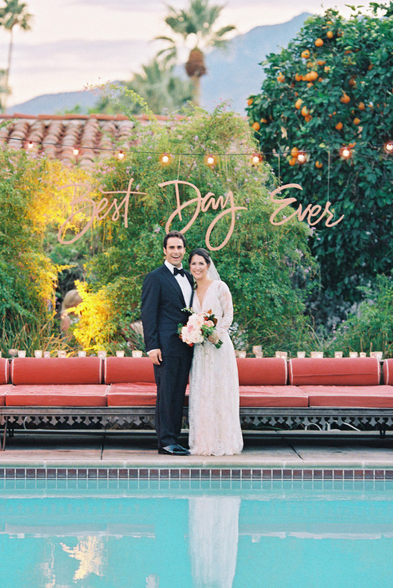 The Colony Palms hotel wedding