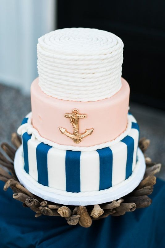 nautical wedding cake | Wedding & Party Ideas | 100 Layer Cake
