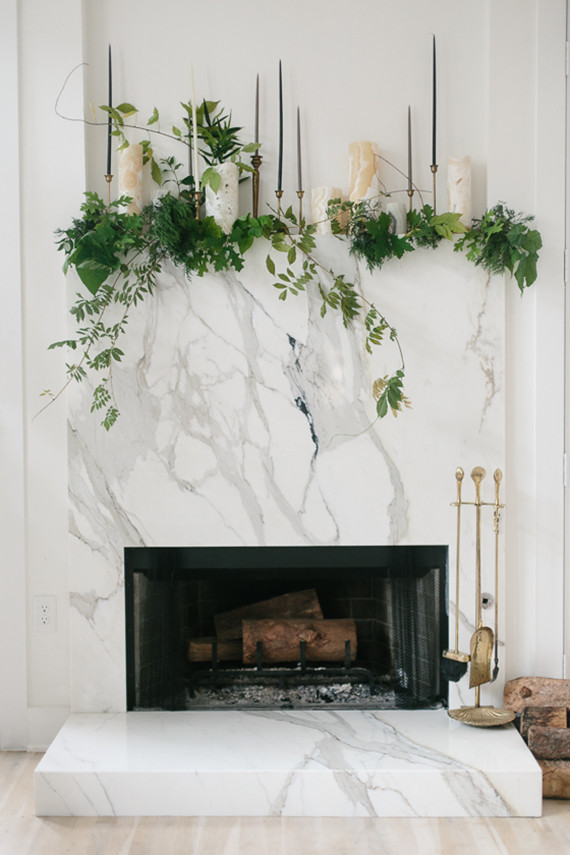 DIY Glam holiday mantel