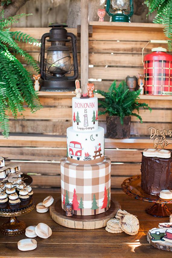 Camping Birthday Cake Wedding Party Ideas 100 Layer Cake