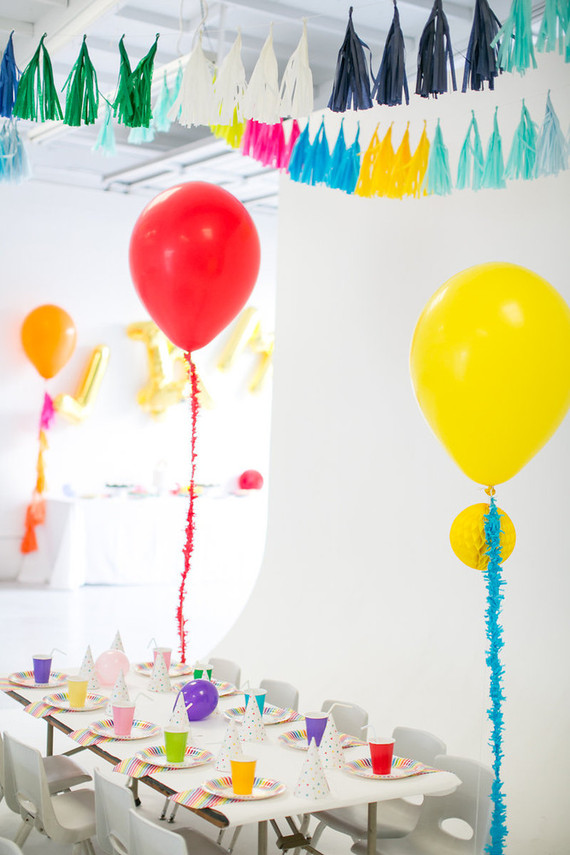Modern kids birthday party