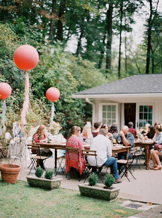 outdoor brunch baby shower