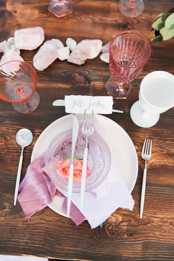 Pink bohemian wedding inspiration