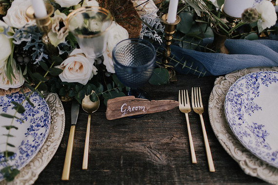 Rustic place card