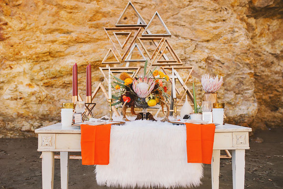 Modern bachelorette party tablescape