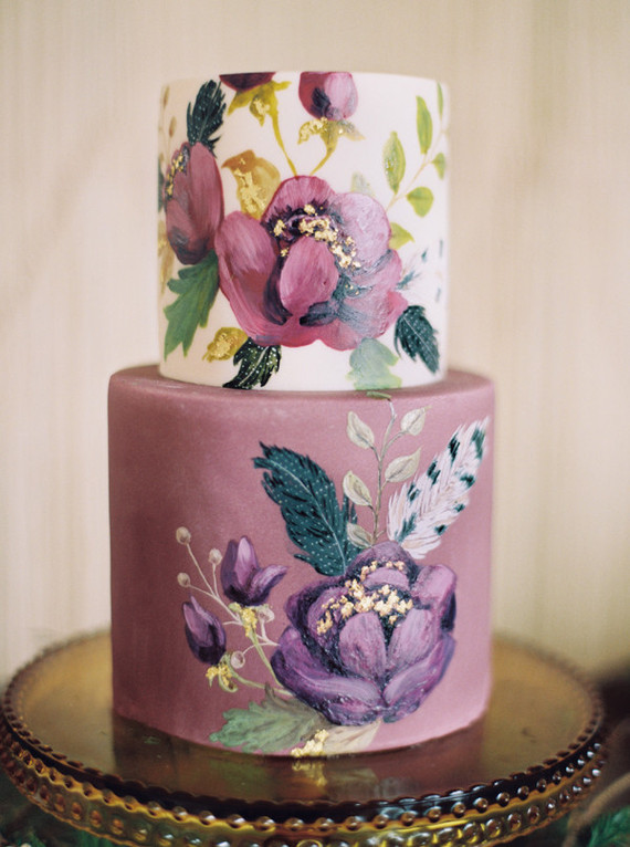 Purple floral layer cake | Wedding & Party Ideas | 100 ...