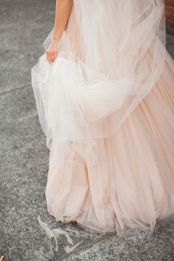Blush BHLDN wedding gown