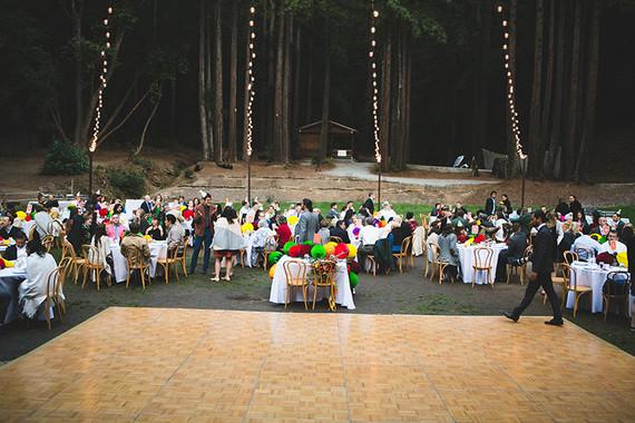 Colorful DIY woodsy wedding