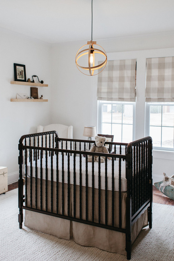 vintage neutral boys nursery