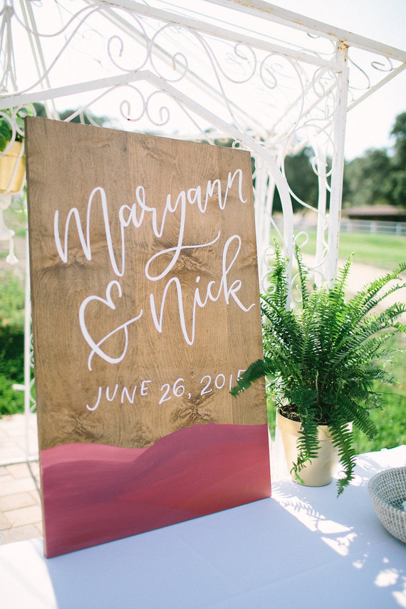 Rustic wedding signage