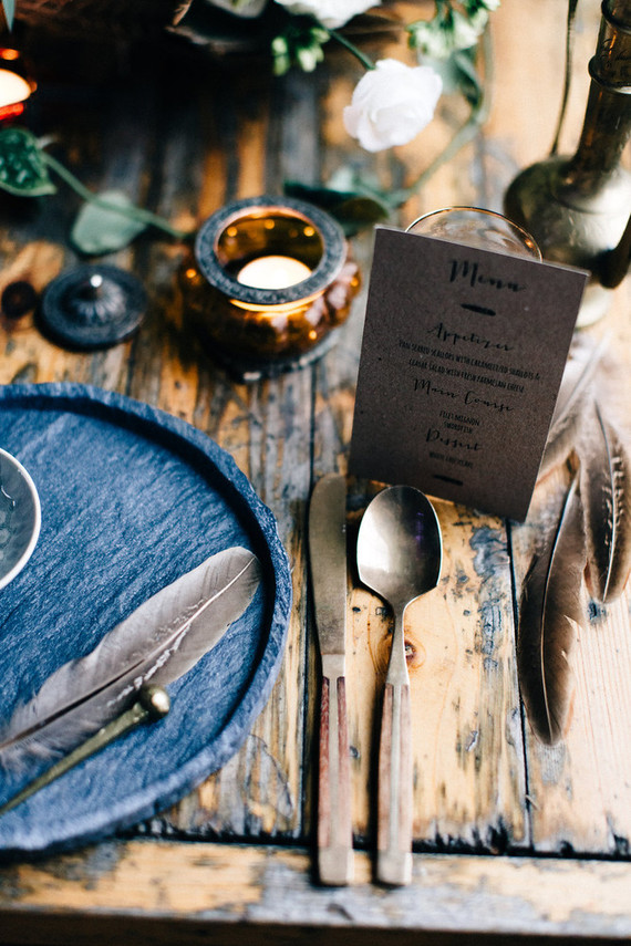 Moroccan bohemian place setting