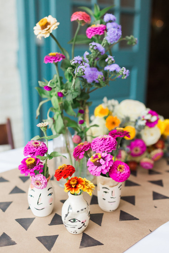 DIY summer wedding florals