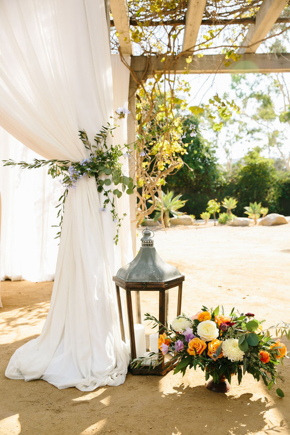 Spanish style wedding decor