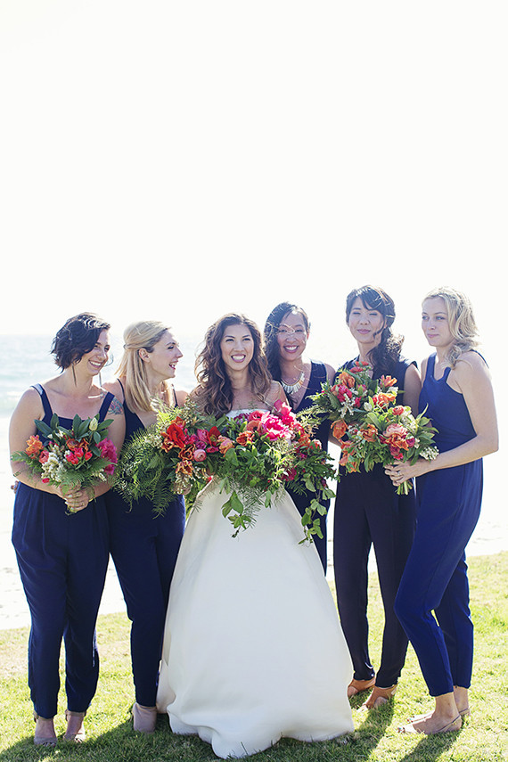Navy bridesmaids