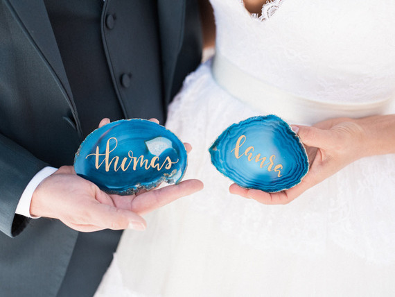 Agate place cards