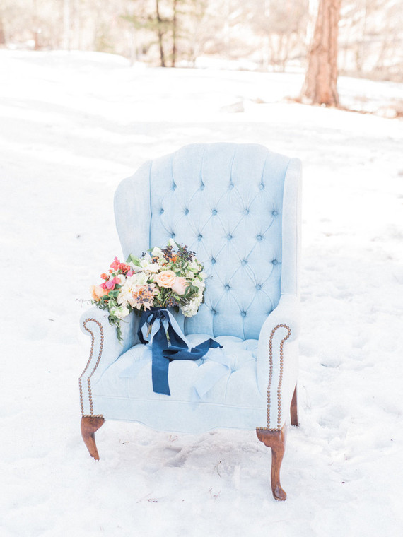 Wintery blues wedding inspiration