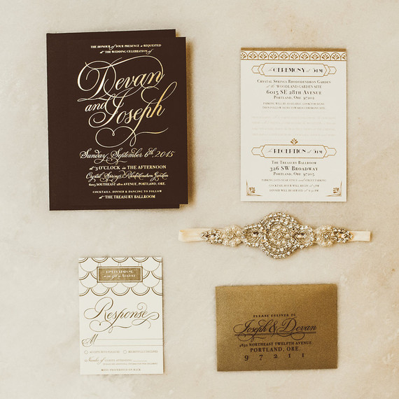 Gold and Black glam wedding invitations | Wedding & Party Ideas ...