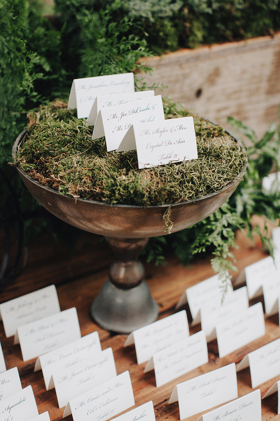 Fall escort card table