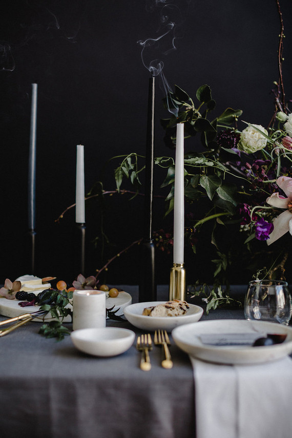 Moody modern wedding inspiration