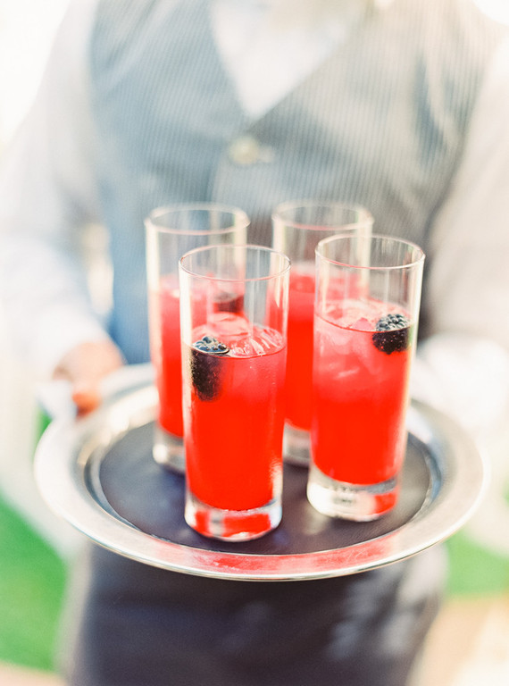 Berry lemonade cocktail