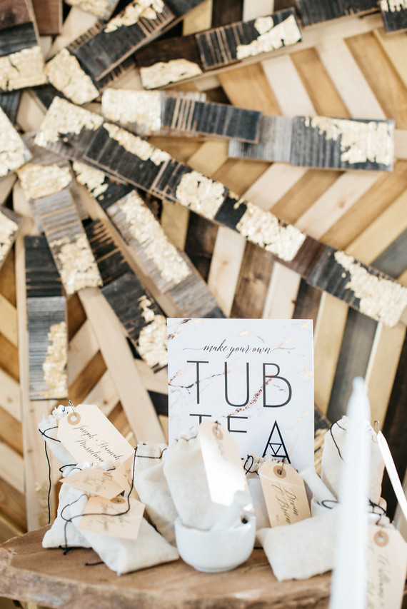 DIY tub tea station