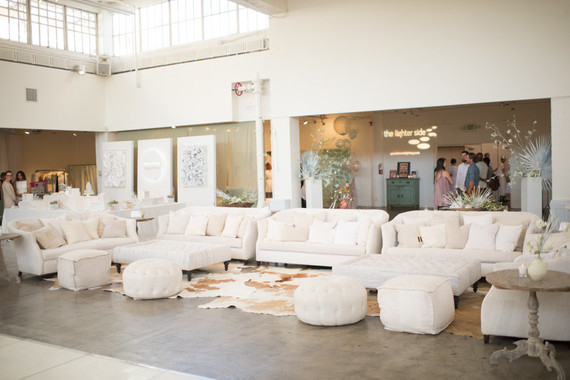 White wedding lounge