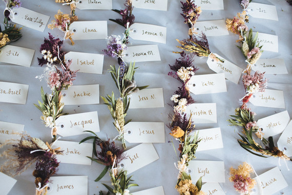 Floral escort card station